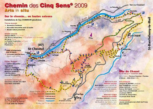 Plan du Chemin des Cinq Sens 2009