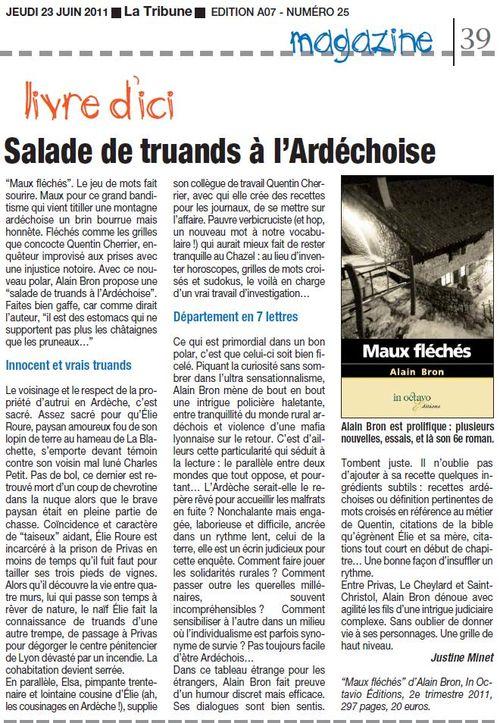 La Tribune Drôme Ardèche 23 juin 2011