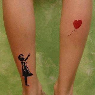Ballon tatouage mollets