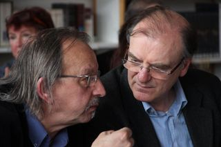 Didier Daeninckx et Alain Bron Nogent sur Oise 13 Avril 2013. jpg
