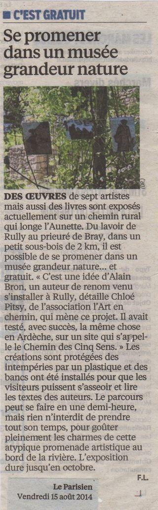 Parisien 15 aout 2014