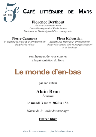 Invitation mairie 5 Paris 3 mars 2020